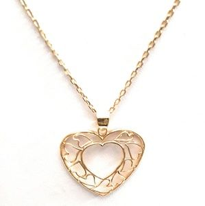 925 silver (gold plated) Filigry Necklace 18""